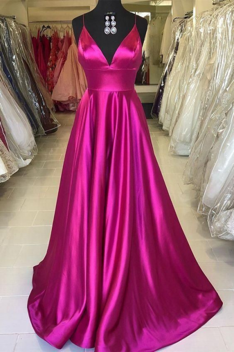 Spark Queen Prom Dresses Elegant, Rose Red Prom Dress Evening Dress Formal Occasion Party Dress