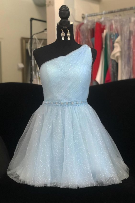 Spark Queen Light Blue Homecoming Dress
