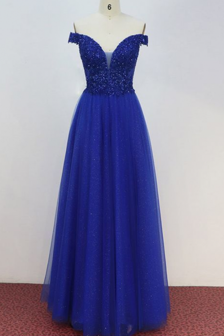 Spark Queen royal blue prom dress