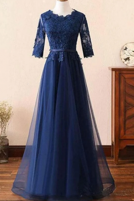 Beautiful Off Shoulder Tulle Prom Gown, New Prom Dress