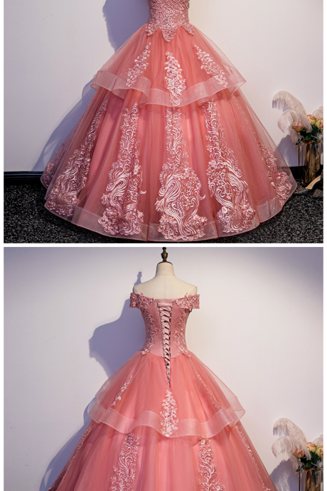 Glam Tulle Layers Ball Gown Princess Party Dress, Sweet 16 Dresses