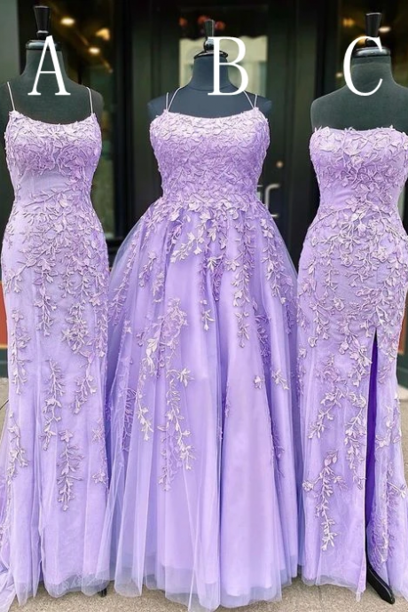 Long Prom Dresses with Appliques and Beading, Grad Dresses Long, 8th Graduation Dress ,School Dance Dress