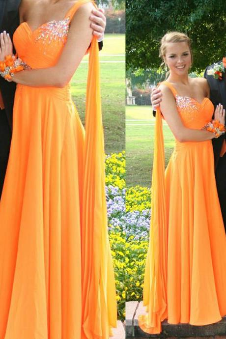 Prom dress,Charming Prom Dress,Sweetheart Prom Dress,A-Line Prom Dress,Chiffon Prom Dress,One-Shoulder Prom Dress