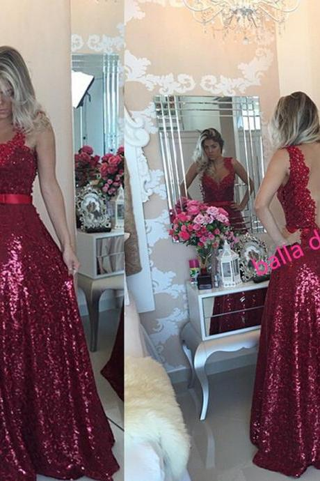 Prom Dress,Party Dress,Long Prom Dress a-line Beaded Prom Dress,Blue Prom Dress,Formal Prom Dress,Open Back Prom Dress