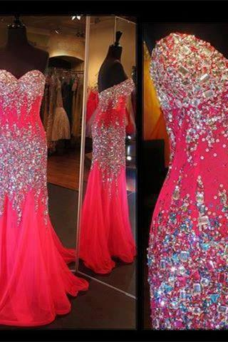 RED Prom Dress,Party Dress,Long Prom Dress wedding dresses