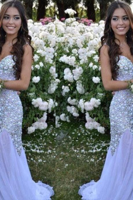 rom Dress,White Prom Dress,Sequined Prom Dress,Luxury Prom Dress,Sweetheart Prom Dress,Graceful Prom Dress,Handmade Prom Dress,Hot Style Prom Dress,Sexy Prom Dress,Mermaid Prom Dress,Beaded Prom Dress,Women Dress Prom,Dress For Pro