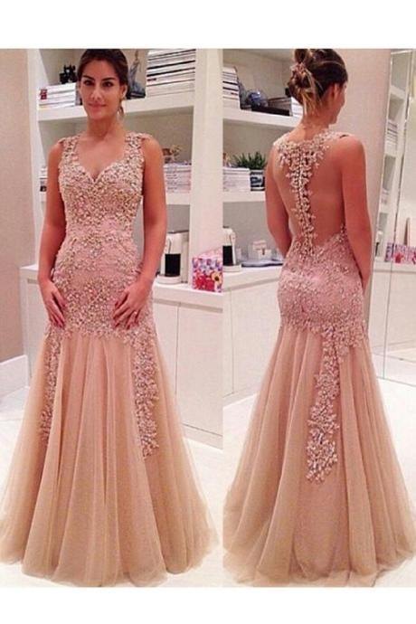New Evening Dresses Evening Wear With Appliques Beaded Floor Llength Zipper Back Sweetheart Party Pageant Dress Prom Gown Formal Gowns