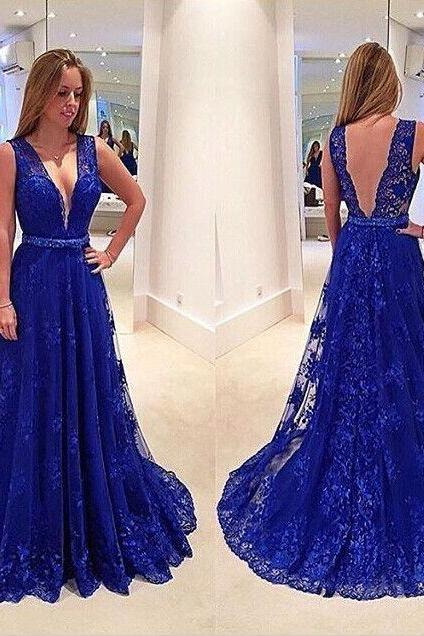 Mermaid V Back Prom Dresses Floor Length Evening dresses
