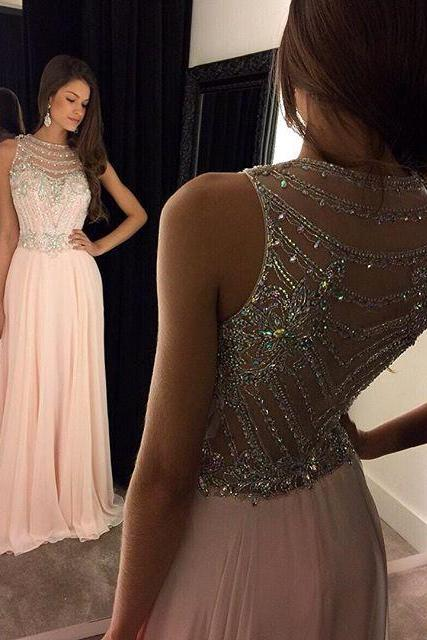 Lace Prom Dresses PINK Floor Length PROM DRESSES EVENING DRESSES LACE PARTY DRESSES