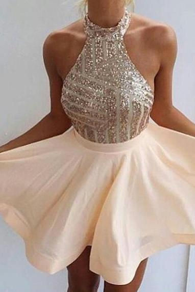 Cute Prom Dresses,A-line Sequins Homecoming Dress,Party Dress,2016 Evening Dresses