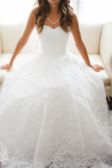 New Arrival Lace Wedding Dresses,Floor-Length Wedding Dresses, Wedding Dresses, White Lace Wedding Dress,Wedding Dresses, Dresses For Wedding
