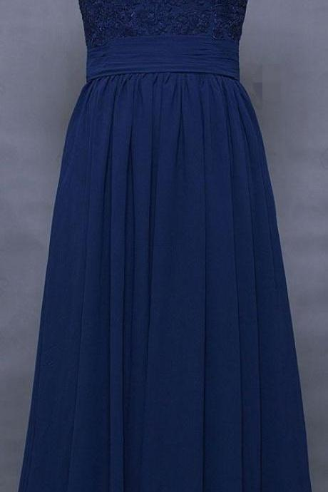 Modest Prom Dresses, Navy Blue Prom Dresses, Cap Sleeves Prom Dress, Long Prom Dress, Elegant Lace Evening Dress, Dree for Prom, Bridesmaid Dresses