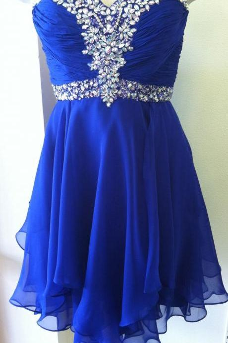 Royal Blue Short Prom Dresses, Short Homecoming Dresses, Cute Homecoming Dresses, Graduation Dresses