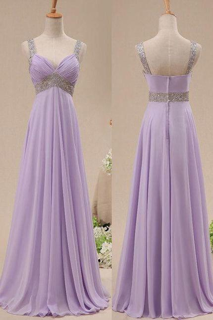 Charming Prom Dress,V-Neck Prom Dress,A-Line Prom Dress,Sequined Prom Dress,Chiffon Prom Dress