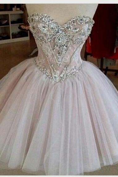Charming Homecoming Dress,Beading Homecoming Dress,Sweetheart Homecoming Dress, Noble Short Prom Dress