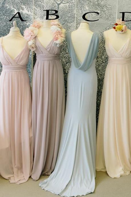 New Fashion Bridesmaid Dresses, Floor-Length Bridesmaid Dresses, Spaghetti Straps Bridesmaid Dresses, Chiffon Bridesmaid Dress,Bridesmaid Dresses