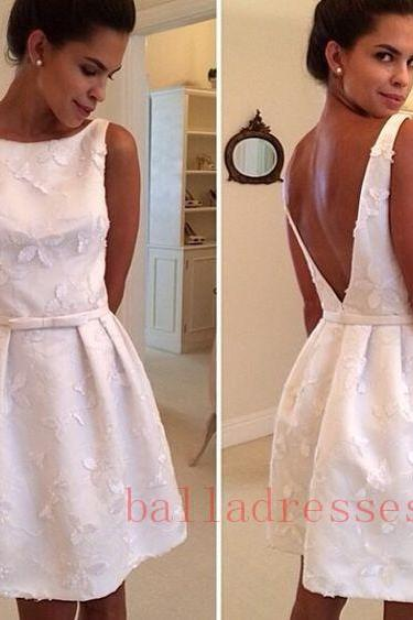 Lace Homecoming Dress,Homecoming Dress,Cute Homecoming Dress, Fashion Homecoming Dress,Short Prom Dress,White Homecoming Gowns,White Sweet 16 Dress