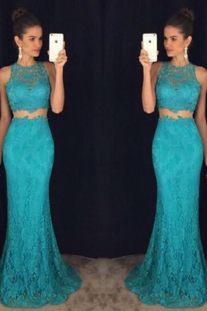 Prom Gown,Prom Dresses, Party Dresses,Lace Evening Gowns,Formal Dress For Teens