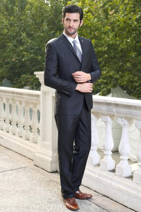 men's business casual suit wedding suit groom grooms man suits for men ternos Jacket + pants