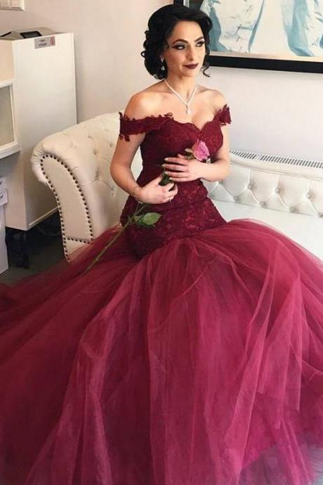 Burgundy Prom Dresses,Wine Red Evening Gowns,Modest Formal Dresses,Burgundy Prom Dresses,New Fashion Evening Gown,Long Evening Gowns