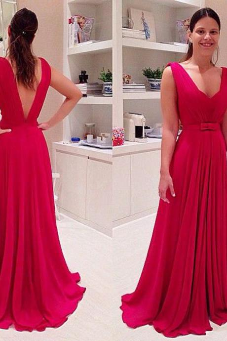 Red Prom Dresses,Prom Dress,Chiffon Prom Dress,A line Prom Dresses,Evening Gowns,Party Dress,Prom Gown For Teens