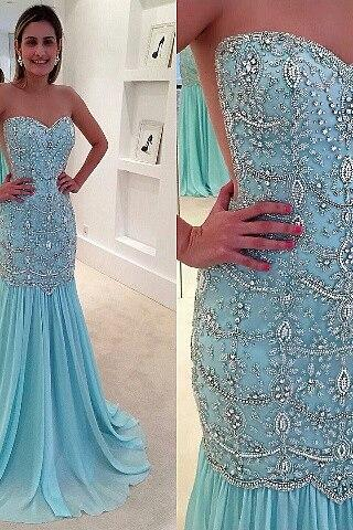Prom Dresses,Light Blue Prom Dress,New Prom Gown,Prom Dresses,Chiffon Evening Gowns,Evening Gown,Sparkle Prom Gowns,Sparkly prom dress