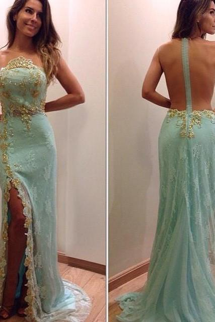 Mint Green Prom Dresses,Prom Dress,Mint Green Prom Dress,Backless Prom Dresses,Formal Gown,Evening Gowns,Modest Party Dress,Prom Gown For Teens