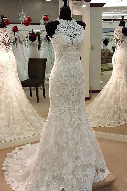 Wedding Dresses, Wedding Gown,Lace Wedding Gowns,Mermaid Bridal Dress,Fitted Wedding Dress,Mermaid Brides Dress,Vintage Wedding Gowns,Mermaid Wedding Dress