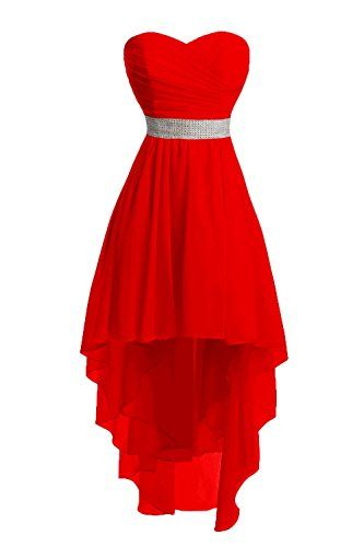 Red Homecoming Dress,High Low Homecoming Dresses,High low Homecoming Gowns,Red Prom Dress,Chiffon Prom Dresses,Sweet 16 Dress,Simple Evening Dresses For Teens