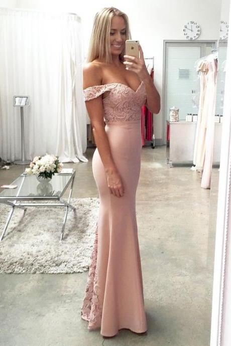 Pink Prom Dress,Lace Prom Dress,Mermaid Prom Dress,Fashion Prom Dress,Sexy Party Dress, New Style Evening Dress