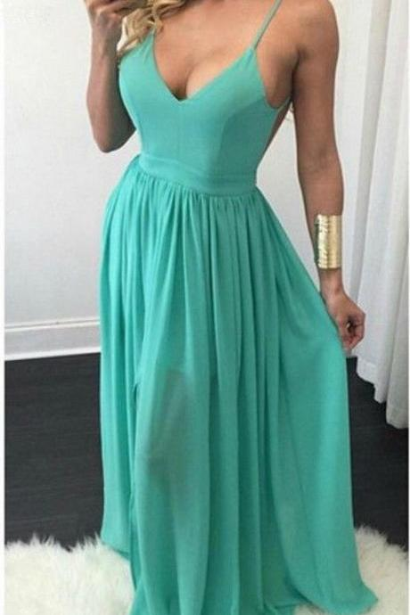 Charming Prom Dress,Spaghetti Prom Dress,Maxi Prom Dress,Fashion Prom Dress,Sexy Party Dress, New Style Evening Dress