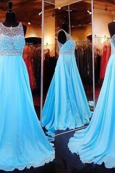 Beaded Prom Dress,Chiffon Prom Dress,Maxi Prom Dress,Fashion Prom Dress,Sexy Party Dress, New Style Evening Dress