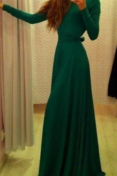 Dark Green Prom Dress,Bodice Prom Dress,Maxi Prom Dress,Fashion Prom Dress,Sexy Party Dress, 2017 New Evening Dress