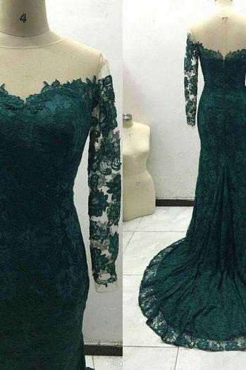 Long Sleeve Prom Dress,Off the Shoulder Prom Dress,Mermaid Prom Dress,Fashion Prom Dress,Sexy Party Dress, 2017 New Evening Dress