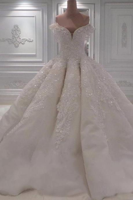 Wedding Dresses, Wedding Gown,sexy off the shoulder white lace sweetheart ball gown wedding dresses with illusion back 2017 new design Princess Wedding Dresses