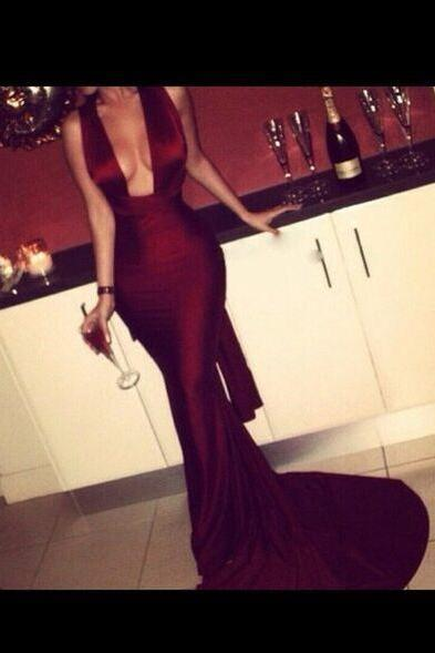 New Arrival Prom Dress,Modest Prom Dress,Sexy Burgundy Prom Dress,Crisscross back Evening Dresses,Long Mermaid Evening Dresses, Formal Dress