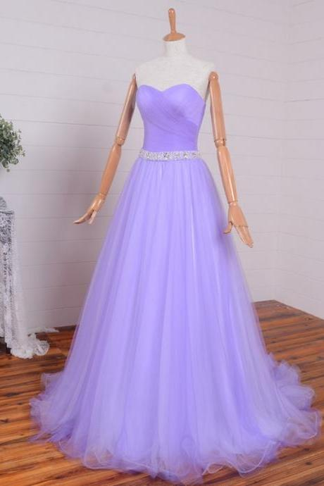 Sweetheart A-line Sleeveless Romantic Evening Dress Elegant Evening Dress,Modest Evening Gowns,Simple Party Gowns