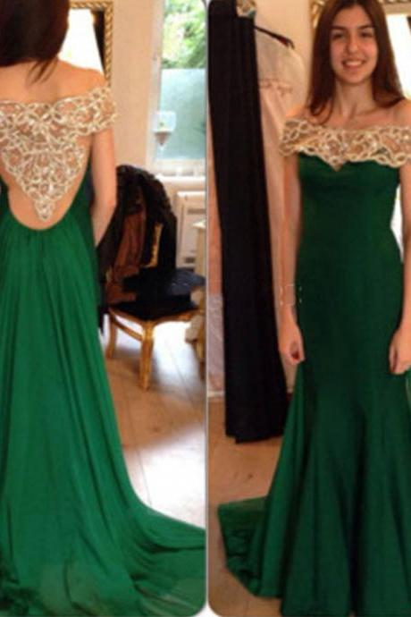 Charming Prom Dresses,Long Prom Dresses,Off The Shoulder Prom Dresses,Chiffon Prom Gowns,Pretty Party Dresses,Beading Prom Dresses