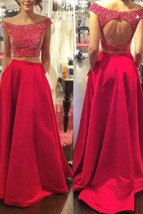 red prom dress, beading prom dress, unique prom dress, sexy prom dress, 2017 prom dress, new arrival prom dress, prom dress with bow, gorgeous prom dress, handmade prom dress, evening dress
