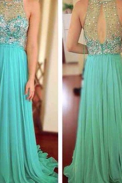 Sparkly A-Line Prom Dress,Long Prom Dresses