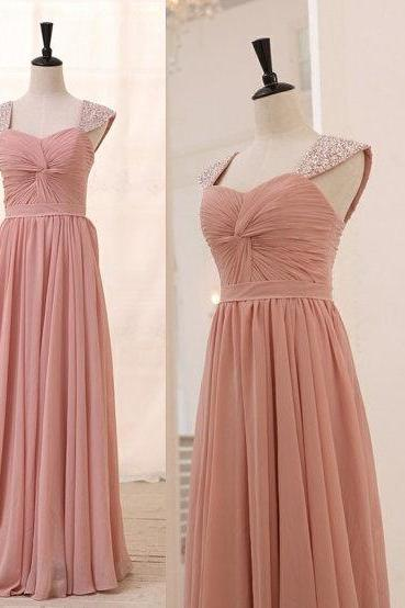 Chiffon Beading Prom Dress,Long Prom Dresses,Charming Prom Dresses,Evening Dress, Prom Gowns, Formal Women Dress,prom dress