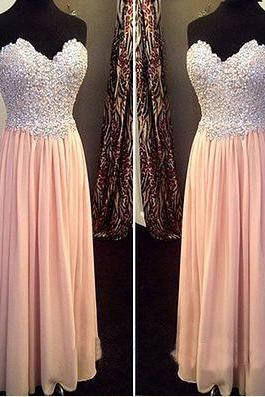 pink prom dress, long prom dress, cheap prom dress, chiffon prom dress, modest prom dress