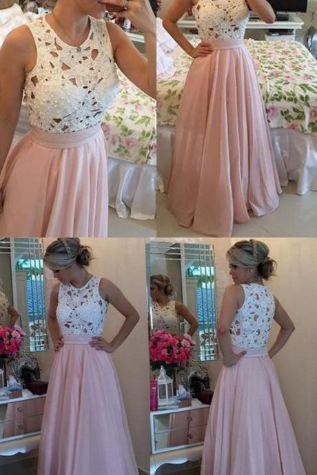 Sleeveless Prom Dress,Pretty Prom Dress,Pink Prom Dress,Floor Length Prom Dress,Custom Evening Dress , Pageant Dresses,Long Prom Dress,New Style Prom Gown,17551