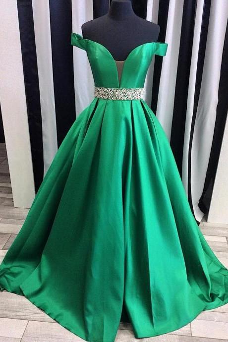 sexy off the shoulder satin ball gowns prom evening dresses 2017