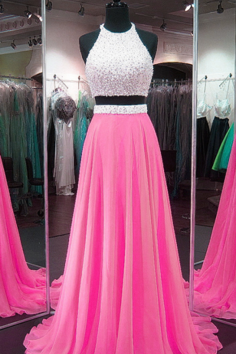 Chiffon Prom Gowns,Two Piece Prom Dress,2 Piece Prom Dress g-6676