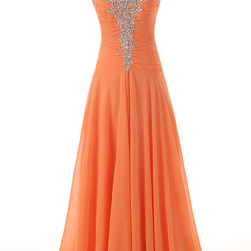 Pleated Sweetheart Neck with Rhinestones Beads Lace up Back A Line Chiffon Party Dresses