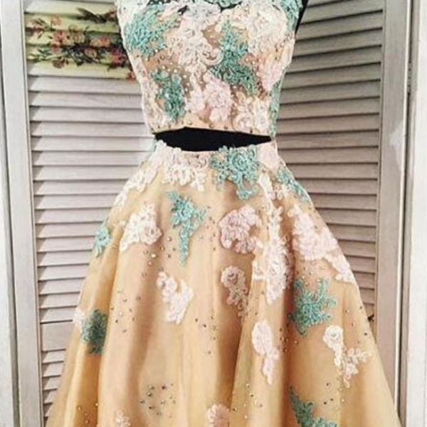 Stylish lace tulle long prom dress, lace long sleeve evening dress Homecoming Dress, Sexy Prom Gown