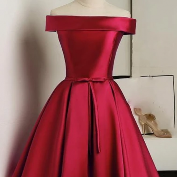 A Line Satin Semi Formal Gown Cocktail homecoming Dress