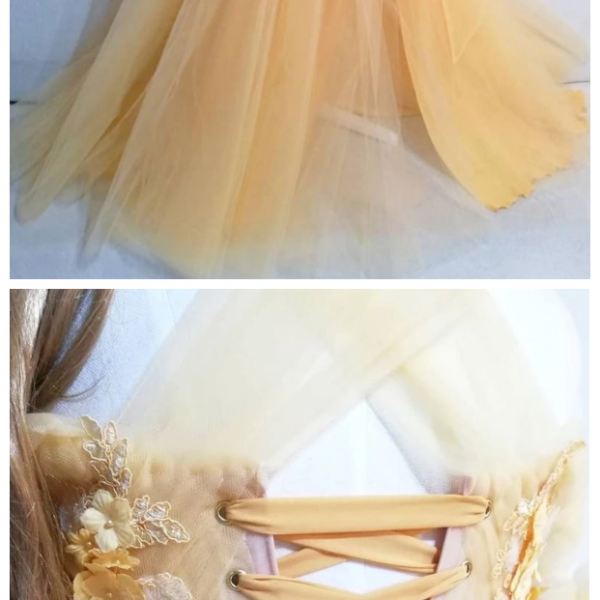 Sweetheart tulle lace long prom dress formal dress