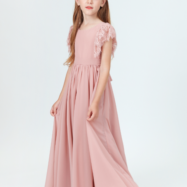 flower girl dresses, 2021 Girl Wedding Party Dress Prom Gown Fashion Clothing Short Sleeve 10 Colors Little Bridesmaid Dresses For Gilr 2-14 Size